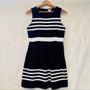 EUC J.crew black and white mini dress